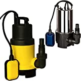 Deuba Wasserpumpe Tauchpumpe (650 Watt -11.500 l/h - Eintauchtiefe 7m - stufenlos einstellbarer Schwimmschalter - Multiadapter - Winkelanschluss - Tragegriff)