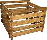 Holzkomposter 100x100xH60 cm Lärche mit Holz-Stecksystem von Gartenwelt Riegelsberger