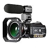 ORDRO Professionelle 4K Ultra HD Nachtsicht Wifi Digitale Videokamera 30X Digital Zoom Camcorder mit...