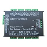 High Power 24 Channel RGB 3A/CH DMX512 Controller Led Decoder Dimmer 500Hz Flicker Free Smoother...