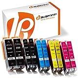 Bubprint 10er Set Druckerpatrone Kompatibel Für Canon Pixma MX925 IP7250 MG5650 MX725 Drucker Canon PGI-550 XL PGBK PGI-550BK CLI-551 XL Mit Chip
