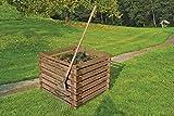 Holzkomposter 90x90xH70 cm Kiefer braun kesseldruckimprägniert mit Holz-Stecksystem von Gartenwelt Riegelsberger