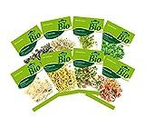 Dehner Bio Keimsprossen, 8 Sorten, Kresse, Brokkoli, Rettich, Radies, Weizen, Rauke, Bohnen, Alfalfa
