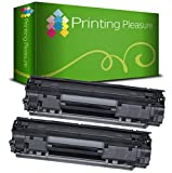 Printing Pleasure CRG 725KIT 2Kompatible Toner für Canon I-Sensys LBP-6000/6000B/lbp-6018/lbp-6020/lbp-6020b/mf-3010, Schwarz