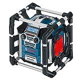 Bosch Professional Akku Baustellenradio GML 50 (USB, Aux-In, integrierter Akkulader, 14,4 - 18 Volt,...