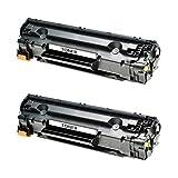 2 Toner für Canon Cartridge 725 I-Sensys LBP 6000 B Series 6020 B 6030 W MF 3010 - 3484B002 - Schwarz je 2100 Seiten