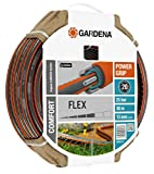 GARDENA Comfort FLEX Schlauch 13 mm (1/2'), 30 m: Formstabiler, flexibler Gartenschlauch mit Power-Grip-Profil, aus hochwertigem Spiralgewebe, 25 bar Berstdruck, ohne Systemteile (18036-20)