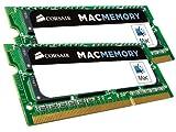 Corsair CMSA16GX3M2A1600C11 Apple Mac 16GB (2x8GB) DDR3 1600Mhz CL11 Apple Zertifizifiert SO-DIMM...