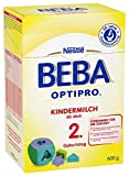 Nestlé BEBA OPTIPRO Kindermilch ab dem 2. Geburtstag, altersgerechte Babynahrung, Milchpulver, für Kleinkinder ab 2, mit den Vitaminen A, C & D, 6 x 600 g