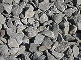50 kg Anthrazit Basaltsplitt 16-32 mm - Basalt Splitt Edelsplitt Lava Lavastein - LIEFERUNG KOSTENLOS