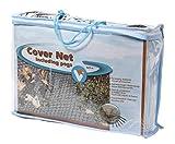 VT 148042 Abdecknetz für den Teich, 6 x 5 m, 10 Erdspieße, Cover Net, Schwarz