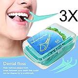 Zahnseide, Luckyfine 180 Stücke Weiß Zahnpflege Interdental Flosser Zahnreiniger Sticks, Zahnseidensticks, Zahn Draht, Zahnstocher Stick Oralpflege