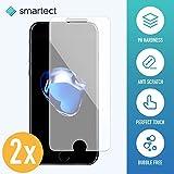 SmarTect 2x Panzerglas Folie für iPhone 7/8 • Panzerfolie mit 9H Härte • Blasenfreie Montage...