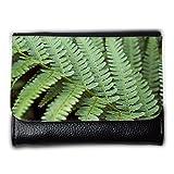 Portemonnaie Geldbörse Brieftasche // M00159100 Farn-Grün Garten Natur Blattpflanze // Medium Size Wallet