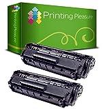 2 Toner kompatibel für Canon LBP-2900, LBP-2900i, LBP-2900B / LBP-3000 / 303 / 703 Schwarz / Black • Premium Qualität - Neuster Chip!