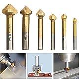 HSS Kegelsenker Senkbohrer Satz 90° Fräse Titan Bohrer Set Werkzeug Senker Entgrater 6,3 - 20,5 mm 6 tlg