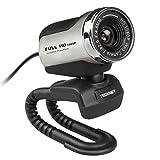 TeckNet C018 Full HD mit integriertem Mikrofon, 1080p Pro Webcam  kompatibel mit Windows XP/ Vista / 7 / 8 / 10