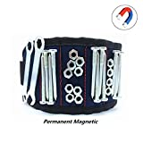 Magnetisches Armband LMYTech Mit 10 PC-Starken Magneten / Dauerhaftem / Mehrzweckmagnetband / Werkzeug-Gurt für / Halteschrauben / Bohrer / Scheren Kleine Werkzeuge / DIY Bestes Werkzeug - Blau