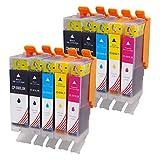 Toner Kingdom 10er Pack (2 Set) Tintenpatronen kompatibel Canon PGI-550 XL CLI-551 XL für Canon Pixma MX925 IP7250 MG7550 MX725 MG5550 MG5650 MG5450 MG6350 MG6450 MG7150 IP7150 IP8750 IX6850 MG6650