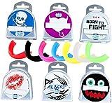 ' MIT NAME ' BAY® Zahnschutz CE + Dose + VORNAME für Kinder und Jugendliche verschiedene Motive / Farben Mundschutz Sport Kids
