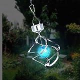 Lixada Solar angetriebene Licht Wind Spining LED Farbwechsel Hängeleuchte für Party Garten Innenhof Landschaft Pathway Dekoration