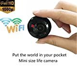 C2 Wearable Mini Camera HD Wifi Hidden Spy Cooky Life Camera H.264 Loop Recording Night Vision Mini DV with Maganetic Clip