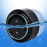 Guzack Duschlautsprecher - Wasserdichter Bluetooth 3.0 Lautsprecher, 6hrs Spielzeit, Dedicated Saugnapf, Eingebauter Mic, Freisprecheinrichtung (Schwarz + Blau)