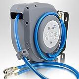 BITUXX® Druckluft Schlauchtrommel 12m automatik Druckluft Schlauchaufroller 12 Meter 1/4' Zoll Anschluss Automatik Schlauchaufroller für Wandmontage