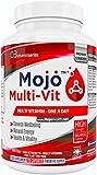 MOJO MULTI-VIT - Multivitamin/Multimineralien Ergänzungsmittel | Vitamin B Komplex | Vitamin A B C D E | Für Vegetarier/Veganer geeignet | Antioxidierende Tabletten Für Männer & Frauen + Geld Zurück Garantie