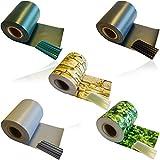 1 x HSM Zaun Sichtschutz Blende Zaunfolie Sichtschutzstreifen 19cm x 35m aus hochwertigem PVC als Windschutz inkl. 20 Befestigungsclips ANTHRAZIT