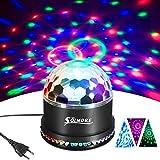LED Discokugel,SOLMORE 51LEDs 12W Discolampe Partyleuchte RGB Lichteffekt Disco Bühnenbeleuchtung...
