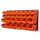 30 teilg. Wandregal Serie Orderline Lagerregal Regale inkl. Stapelboxen orange