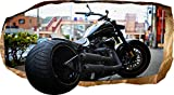 Startonight 3D Tapete Harley Davidson, Wandmalerei Bild an der Wand Großformat Modern Muster Dekorative Kunst Wand 82 x 150 cm