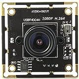 ELP 1080p Full HD H.264 USB-Kamera-Module Support Android Linux-Windows-Betriebssystem für die Videoüberwachung (2.1mm Objektiv)