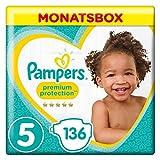 Pampers Premium Protection Größe5, 11–16kg, 136Windeln, Monatsbox
