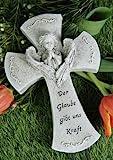 Grabkreuz Engel 'Der Glaube gibt uns Kraft'