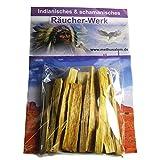 Palo Santo   12 Stück   Heiliges Holz Indianer Räucherwerk #81050   MIT Räucheranleitung für spirituelle Räucherung   Reinigung, Meditation, Schutz, Hausreinigung, Schwitzhütte. Ökologischer Anbau.