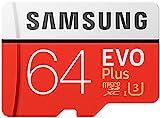 Samsung EVO Plus Micro SDXC 64GB bis zu 100MB/s, Speicherkarte (inkl. SD Adapter) [Amazon Frustfreie Verpackung]
