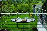 BEST 36501550 Balkon Hängetisch Butler halbrund 100 x 50 cm, anthrazit