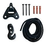 LA SIESTA - Universal Rope Black - Multizweck-Befestigung für Hängestühle und Hängehöhlen
