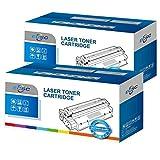 ECSC Kompatibel Toner Patrone Ersatz für HP LaserJet M1005 MFP M1319f MFP M1319 3050 3052 3055 1010 1012 1015 1018 1020 1020 1022 1022n 1022nw All-In-One 3015 3020 3030 Q2612A (Schwarz, 2-Pack)