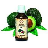 Avocadoöl, kaltgepresst und raffiniert, naturreines - reines 100ml, Glasflasche, Avocado Öl - intensive Pflege für Gesicht, Körper, Haare, Haut, Beauty, Massage, Körperpflege Öl Avocado von AROMATIKA