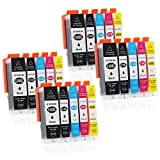 20 Druckerpatronen kompatibel zu PGI-550 / CLI-551 (4x Schwarz breit, 4x Schwarz schmal, 4x Cyan, 4x Magenta, 4x Gelb)