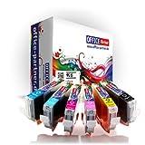 6er multiPack kompatible Druckerpatronen zu CANON CLI-8 mit Chip für Canon PIXMA MP500 / MP510 / MP520 / MP530 / MP600 / MP600R / MP610 / MP800 / MP800R / MP810 / MP830 / MP960 / MP970 / MX700 / MX850 ; Ip3300 / Ip4200 / Ip4200x / Ip4300 / Ip4500 / Ip4500x / Ip5200 / Ip5200r / Ip5300 /Ip6600 / iP6600D
