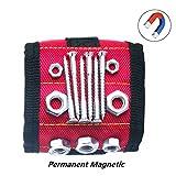 Magnetisches Armband LMYTech Mit 10 PC-Starken Magneten / Dauerhaftem / Mehrzweckmagnetband / Werkzeug-Gurt für / Halteschrauben / Bohrer / Scheren Kleine Werkzeuge / DIY Bestes Werkzeug - Rot