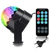 Discokugel LED Party Lampe Beleuchtung mit Fernbedienung - Spriak 7 Farbe RGB Dj Licht mit 3W, Musik...