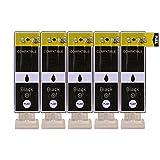 5 Druckerpatronen im Set; kompatibel zu PGI-520BK Textschwarz mit CHIP und Füllstandanzeige; Patronen der Marke D&C; diese Tintenpatronen sind geeignet für folgende Canon Drucker Pixma IP3600 IP4600 IP4600X IP4700 MP540 MP550 MP560 MP620 MP630 MP640 MP640R MP980 MP990 MX860 MX870