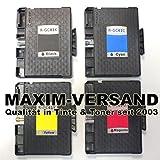 4 XXL Gel Drucker-Patronen Set für Ricoh GC-41 Black, Cyan, Yellow & Magenta (schwarz, rot, blau,...