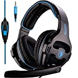 2016 Newest Sades sa-810 Multi-Plattform PS4 Gaming Headset, Wired Over-Ear-Kopfhörer mit Mikrofon...