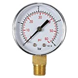 KKmoon 50mm 0 ~ 60 psi 0 ~ 4 bar Manometer, Pool Filter Wasserdruck Messer, Dial Hydraulische Meter 1/4 Zoll BSPT Gewinde